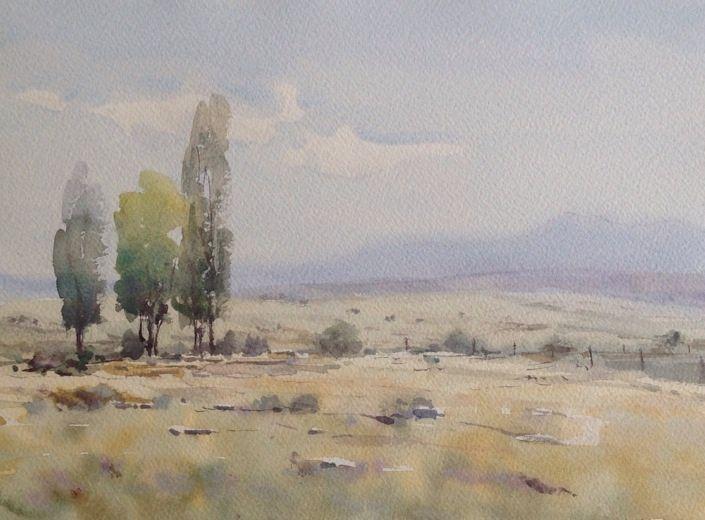 Campo de avila watercolor