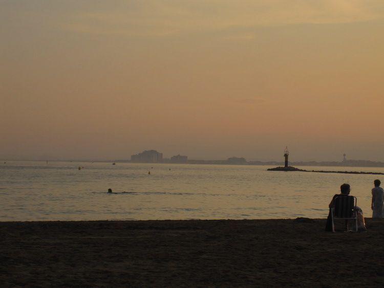 puesta de sol acuarelas fermin lopez