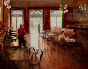 Acuarela Cafe Moderno en Pontevedra