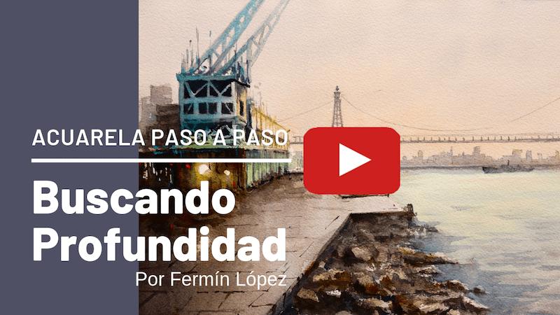 watercolor step step fermin Lopez