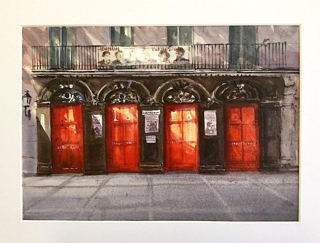 Acuarela Teatro Lara en Madrid