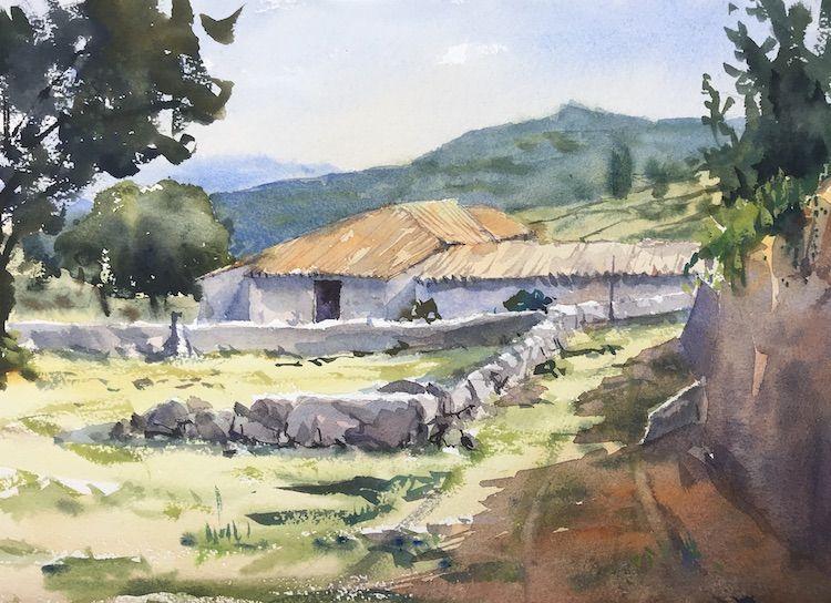 acuarela Villanueva del Campillo